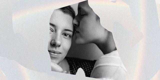 two women kissing