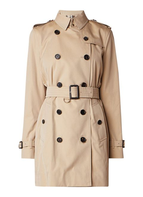 Clothing, Trench coat, Coat, Outerwear, Overcoat, Beige, Sleeve, Duster, Collar, Jacket,