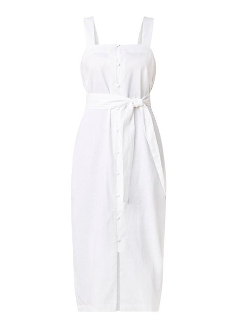 White, Clothing, Dress, Day dress, Cocktail dress, One-piece garment, Formal wear, Satin,