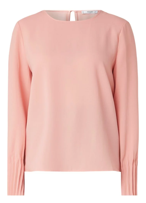 Clothing, Pink, Sleeve, Neck, Outerwear, Peach, T-shirt, Top, Sweater, Blouse,