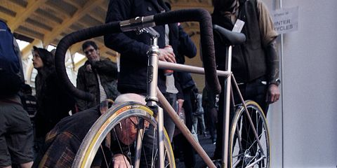 bike being examined at a contest