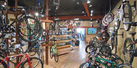 Bicycles in Rack