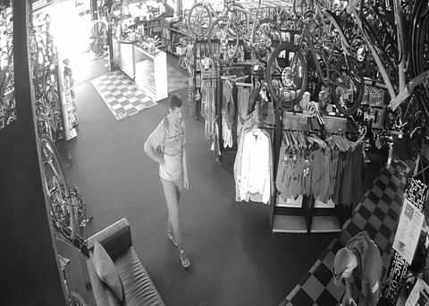Bike shop theft