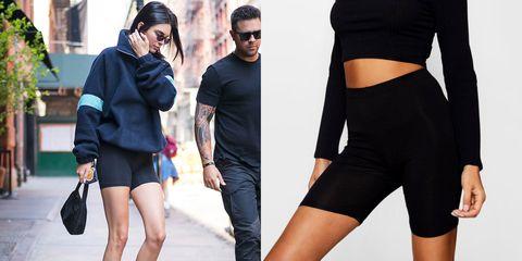 Clothing, Waist, Shoulder, Eyewear, Fashion, Leg, Shorts, Joint, Street fashion, Cycling shorts,