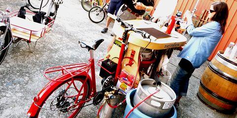 A postride beer