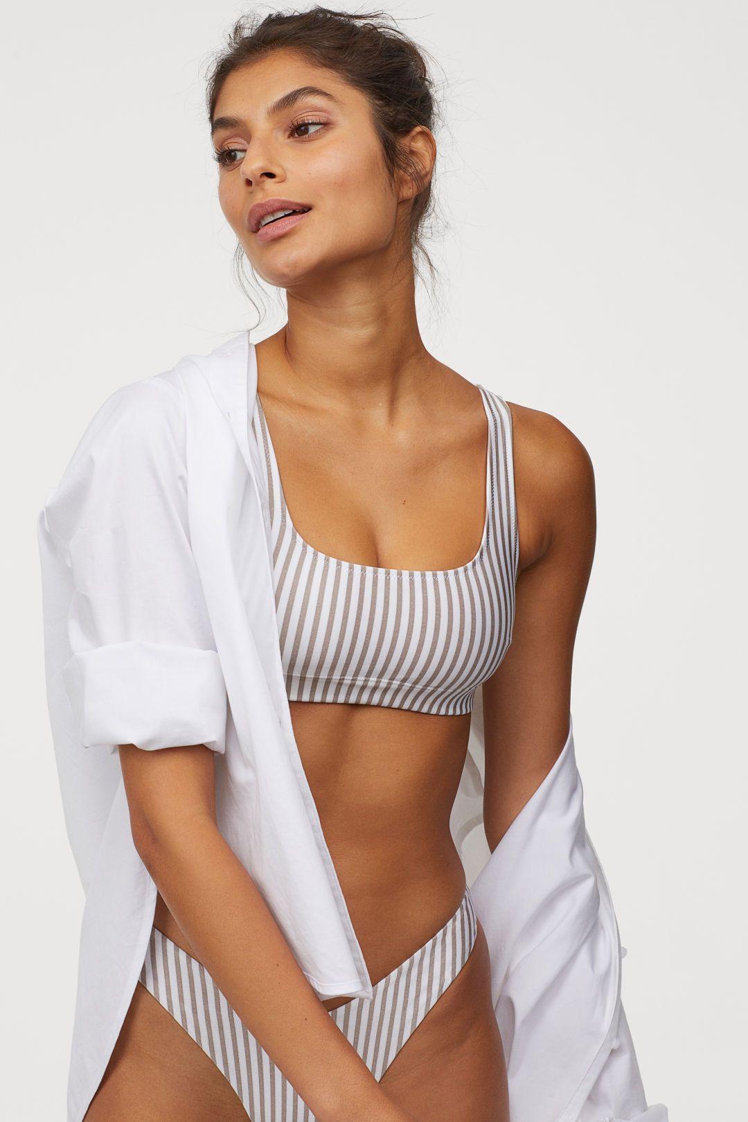 Bikini flat chested