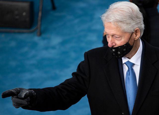 bill clinton, asleep, joe biden, inauguration