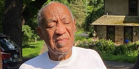 cheltenham, pennsylvania   june 30 bill cosby speaks to reporters outside of his home on june 30, 2021 in cheltenham, pennsylvania bill cosby was released from prison after court overturns his sex assault conviction photo by michael abbottgetty images