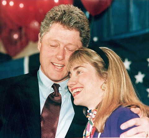 washington,   a 1992 photo shows then governor of arkansas bill clinton l and his wife hillary r embracing clinton has been accused of having an affair with a former white house intern, monica lewinsky, and during a depostion 17 january in the paula jones sexual harrassment suit, he admitted to having a relationship with gennifer flowers when he was governor photo credit should read afpafp via getty images