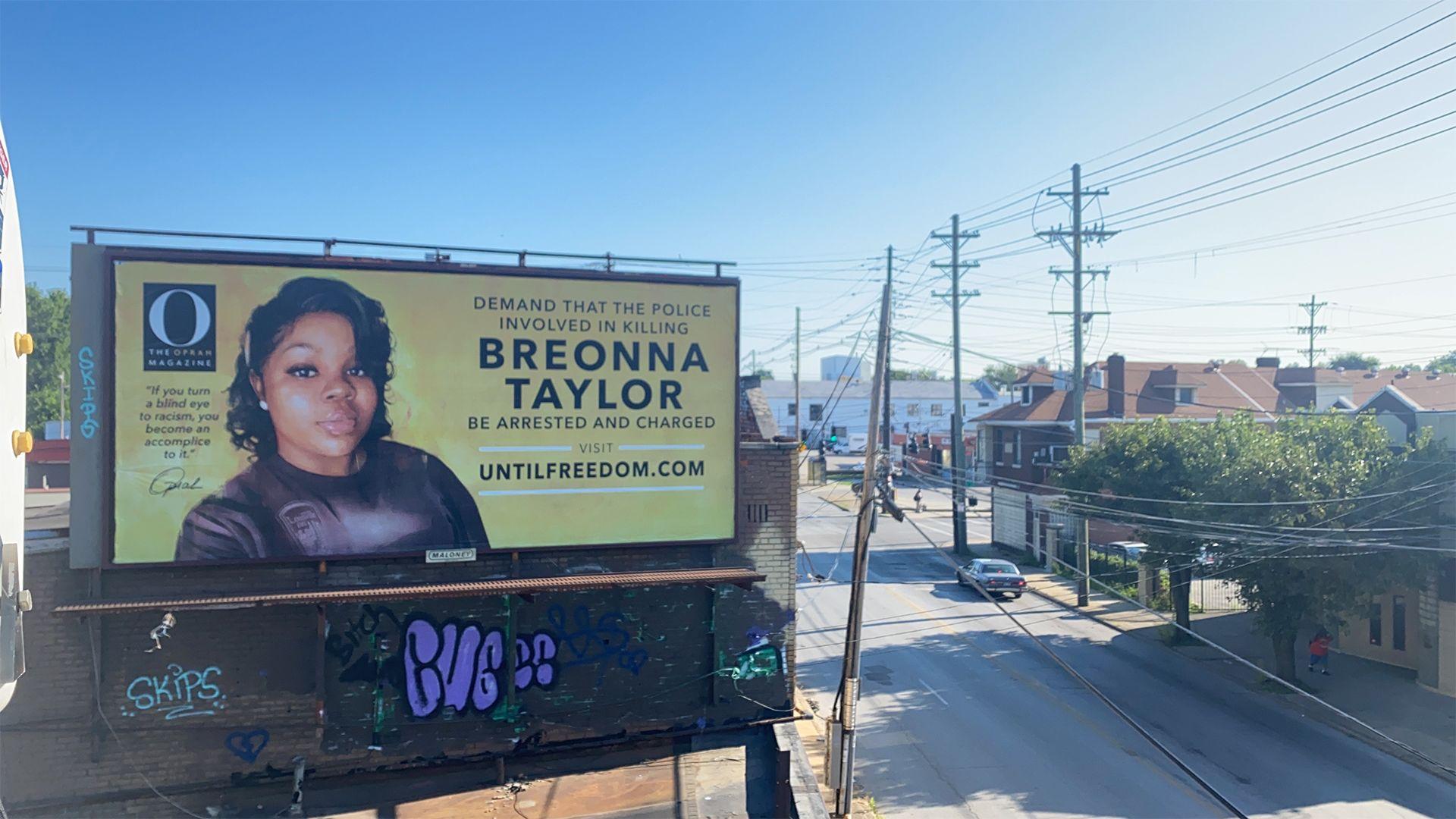Oprah Magazine Places 26 Breonna Taylor Billboards In Louisville