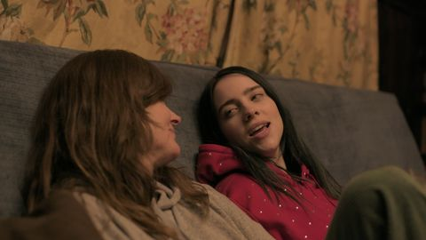 """billie eilish and her mother, maggie baird, in """"billie eilish the world's a little blurry,"""" now streaming on apple tv"""