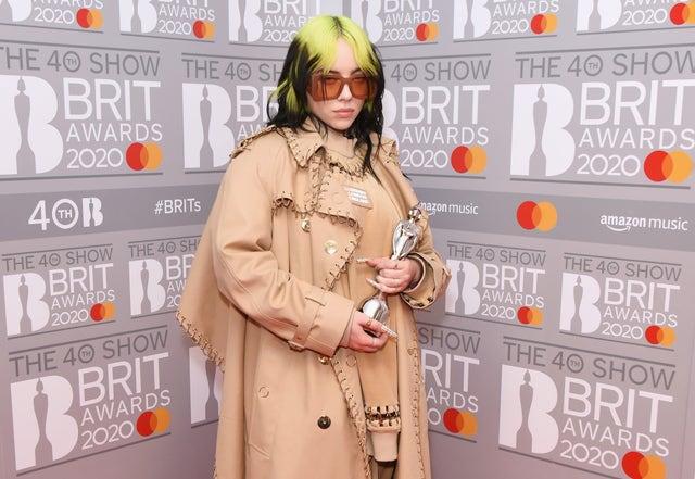 billie eilish brit awards 2020 harpers' bazaar