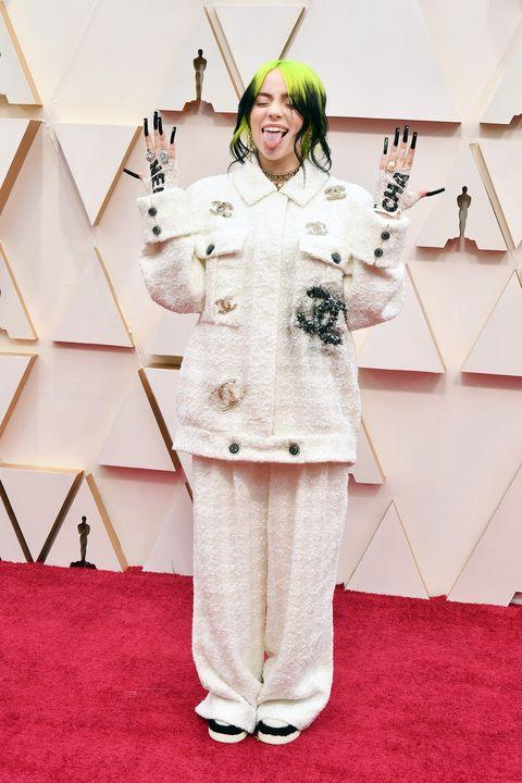 Billie Eilish tijdens de Oscars 2020