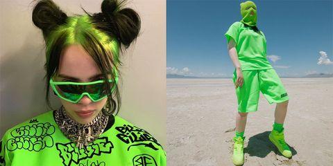 billie eilish green outfit