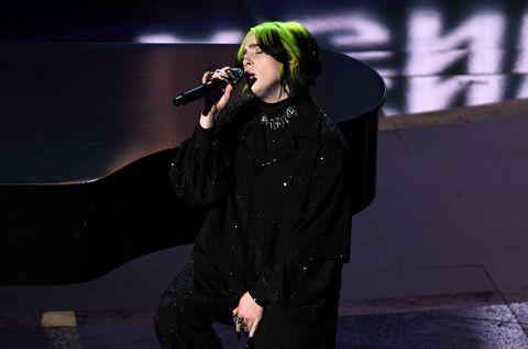 Billie Eilisch' optreden tijdens de Oscars 2020.