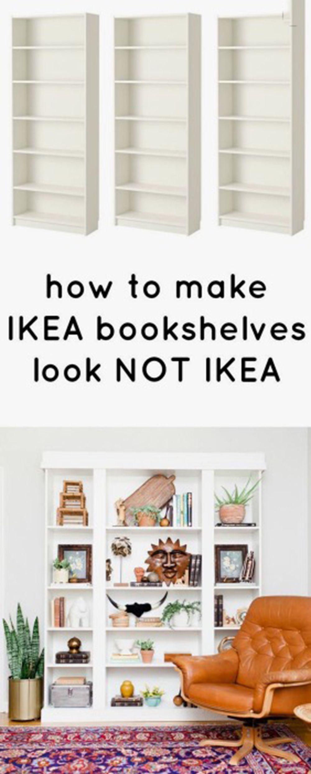 12 genius hacks to transform your IKEA BILLY bookcase