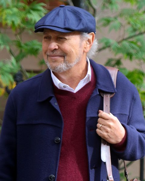 new york, ny   october 28 billy crystal is seen on the set of here today on october 28, 2019 in new york city  photo by jose perezbauer griffingc images