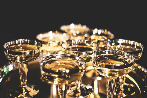 Metal, Glass, Tableware, Reflection, Champagne stemware,