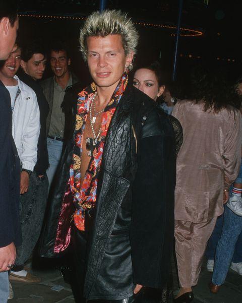 billy idol ropa moda años 80 fotos