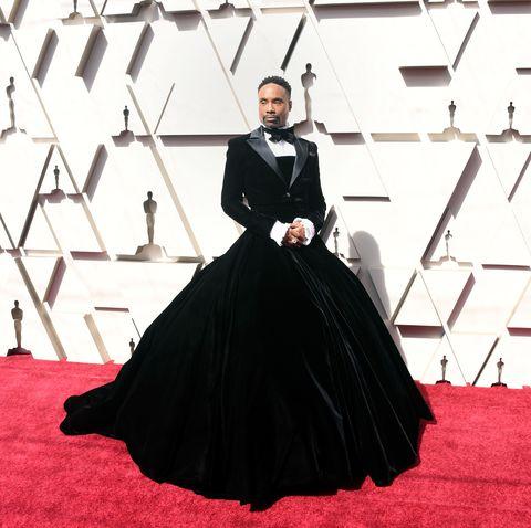 c5dda99a4179a Billy Porter Wears Christian Siriano Tuxedo Gown to Oscars 2019