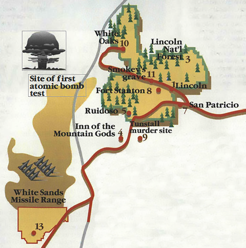 billy the kid map