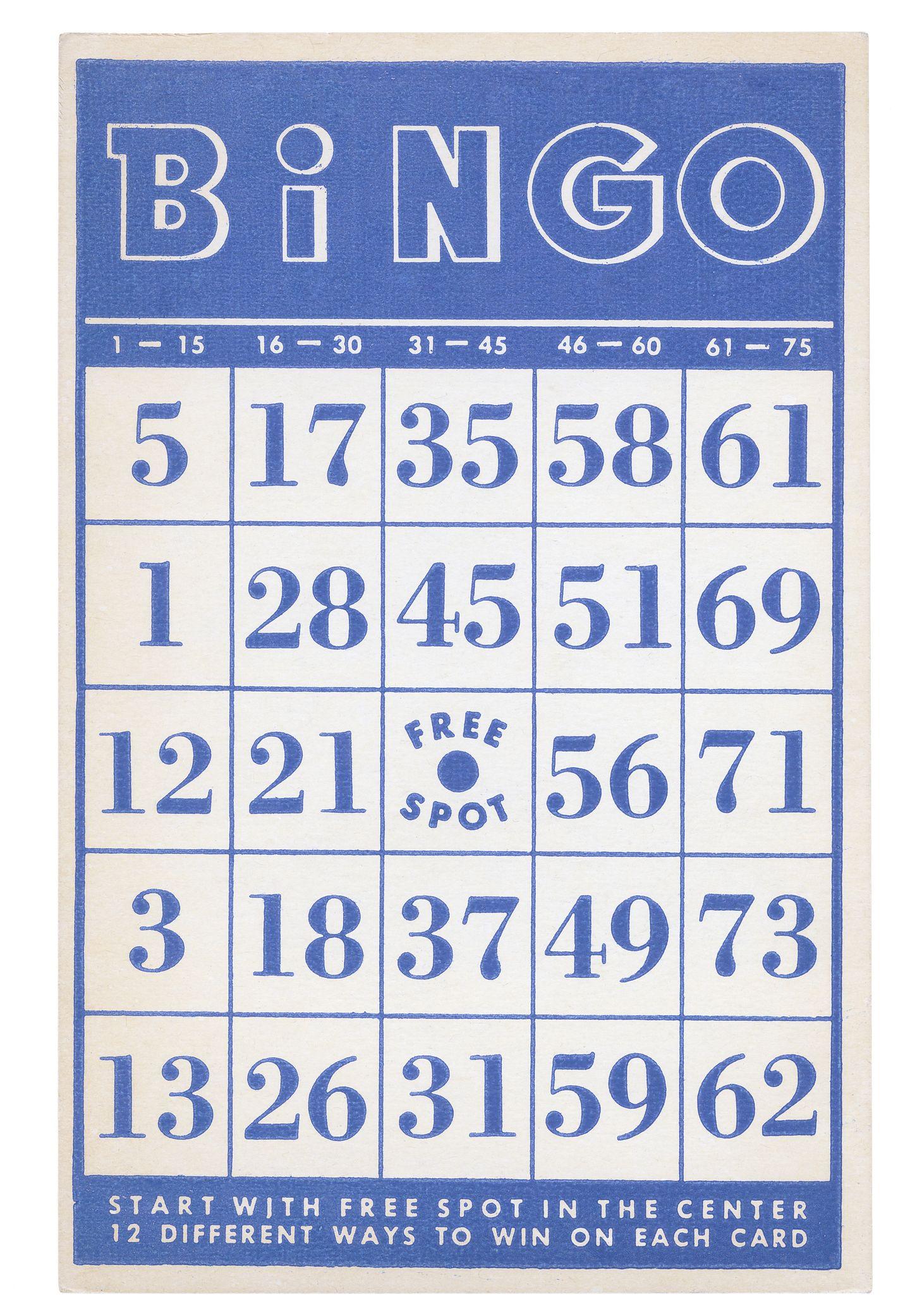 bingo karta