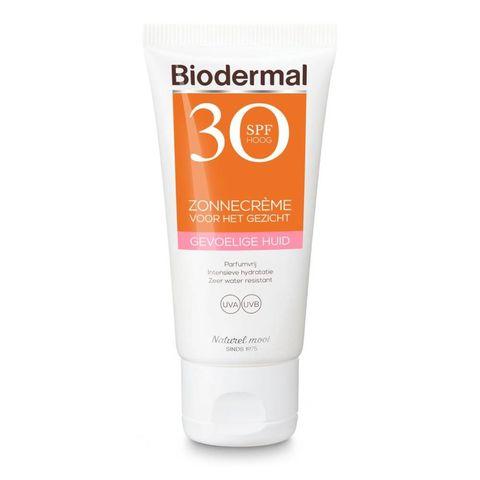 biodermal zonnebrandcreme voor gevoelige huid