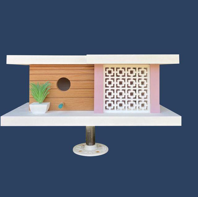 midcentury modern birdhouses