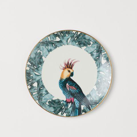 H&M Home bird plate