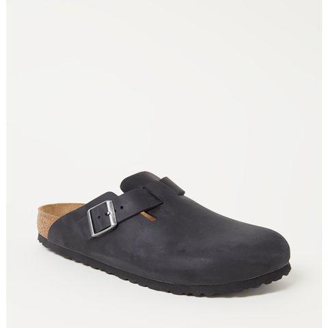 birkenstock boston slipper zwart
