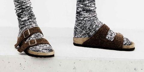 Footwear, Shoe, Fashion accessory, Sock, Boot, Glitter, Wool, Sandal, Pattern,