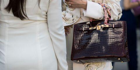 White, Street fashion, Clothing, Shoulder, Fashion, Dress, Handbag, Bag, Joint, Fashion accessory,