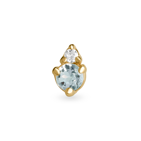 stone and strand birthstone and diamond stud earring