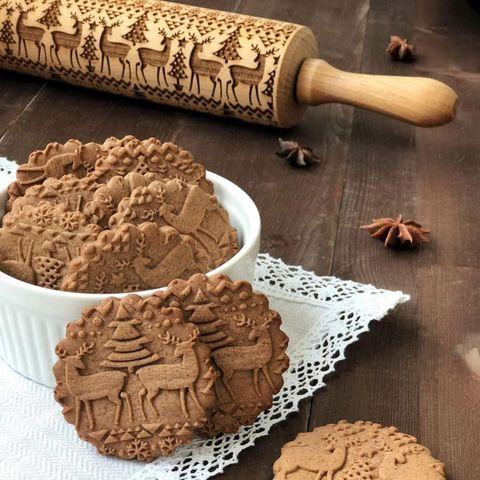 Regalare Biscotti Di Natale.Crea Biscotti Di Natale Unici Con Il Mattarello 3d In Legno