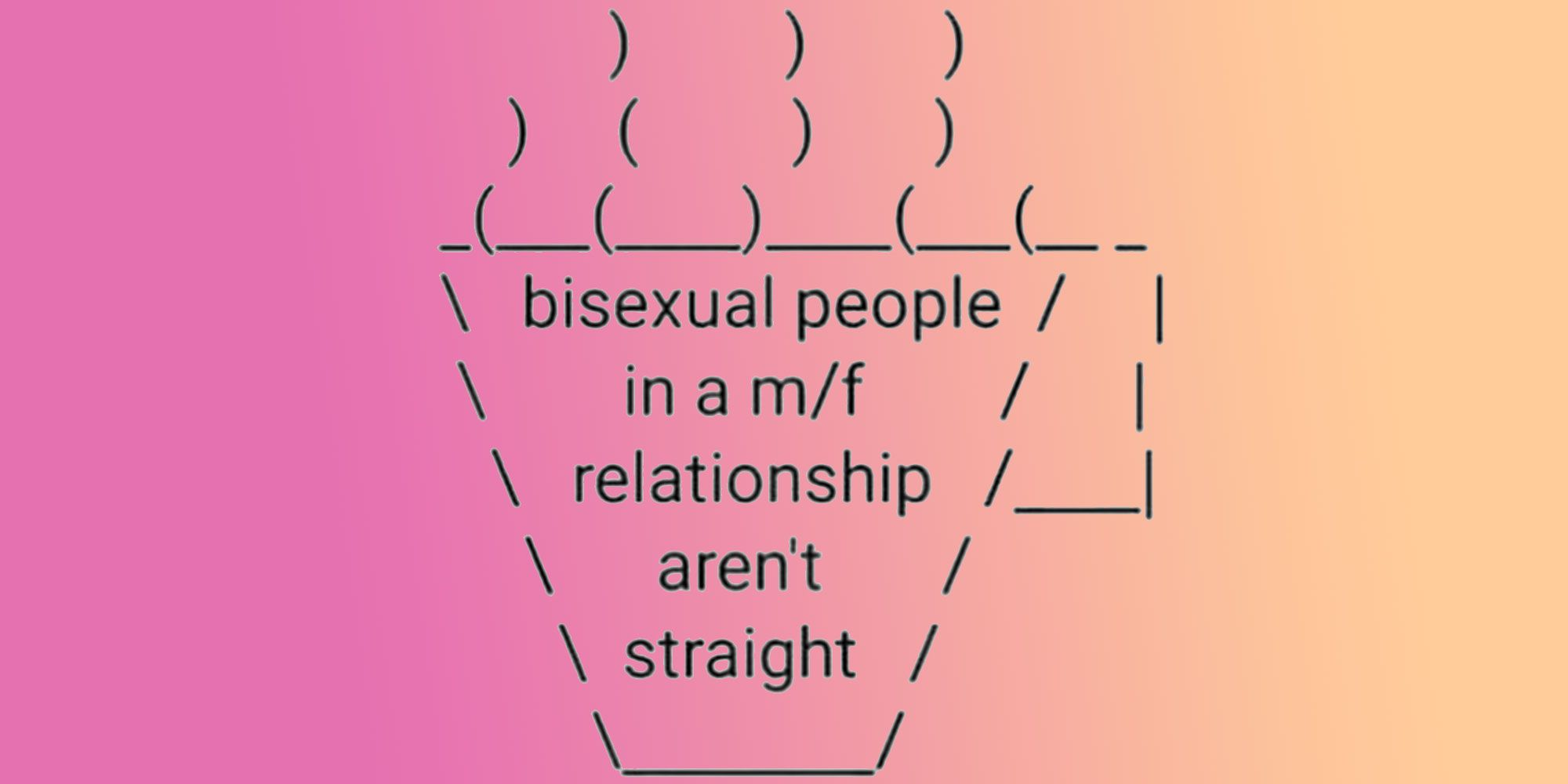 Bisexual in a straight relationship