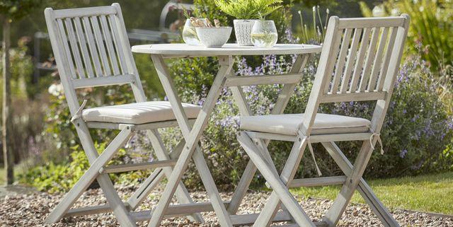 Garden Bistro Set, Round Wooden Garden Table And Chairs Ireland