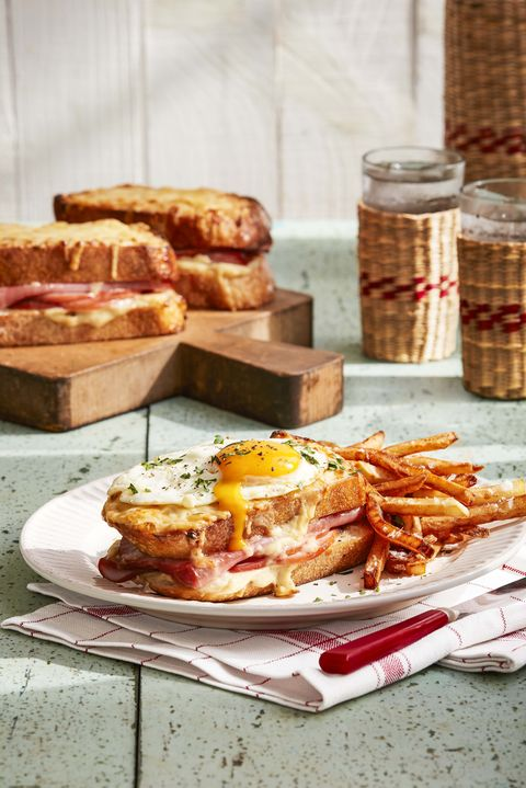 french fries on plate with sandwich