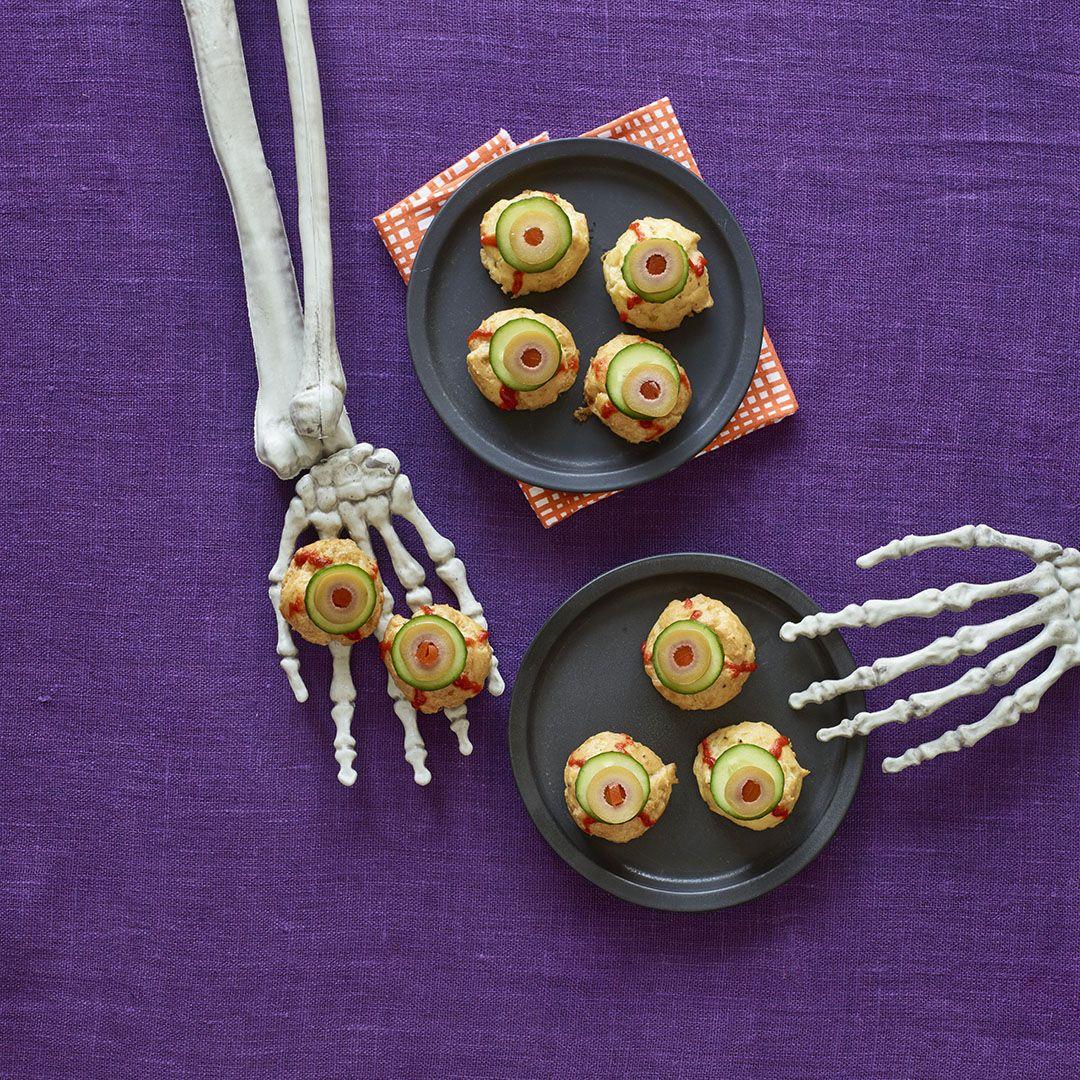 Woman's DayBite Size 'eyeballs' halloween appetizer