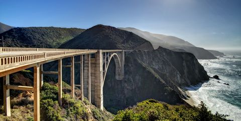 Bixby Creek Bridge at Backlight