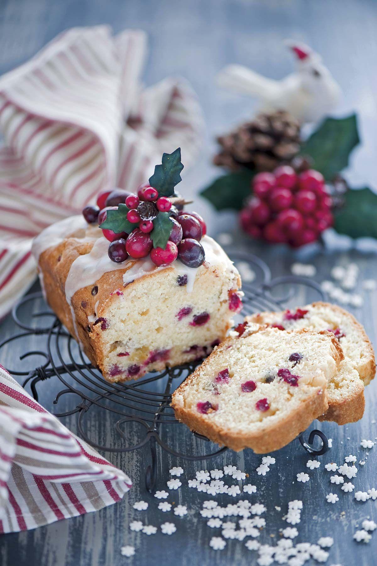 Postres de Navidad: Bizcocho de arándanos