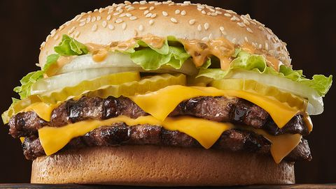 Hamburger, Food, Fast food, Buffalo burger, Burger king premium burgers, Cheeseburger, Dish, Junk food, Original chicken sandwich, Breakfast sandwich,