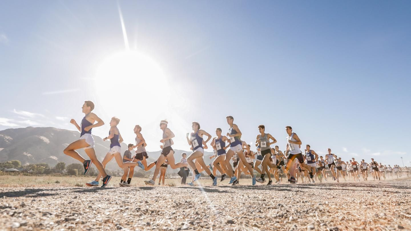 Watch BYU Men's Cross-Country Team Bust a Move During 5:45-Pace Long Run