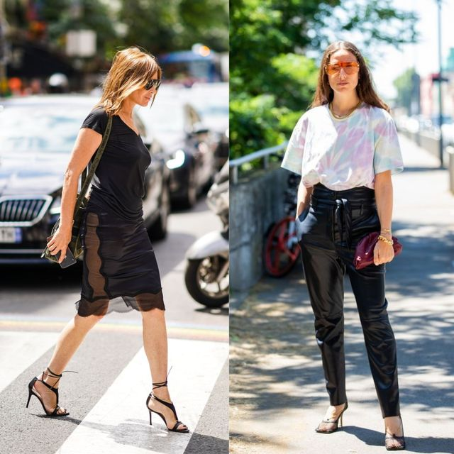 夏の黒ファッション
