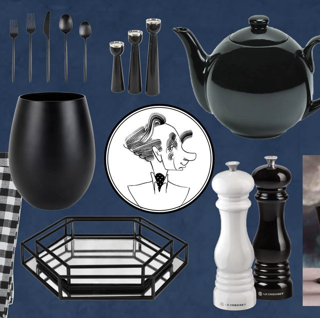 black and white tabletop
