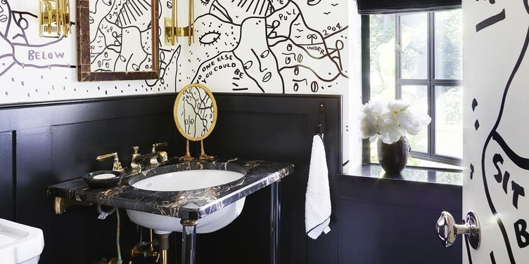 Black Tiles In Bathroom Ideas. Black And White Bathroom