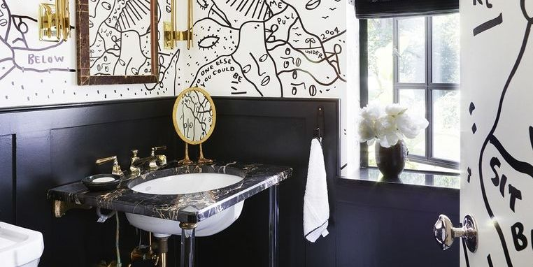 Excellent 35 Black White Bathroom Design And Tile Ideas Home Remodeling Inspirations Propsscottssportslandcom