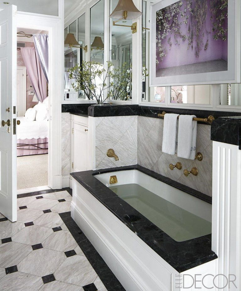 35 Black White Bathroom Design And Tile Ideas