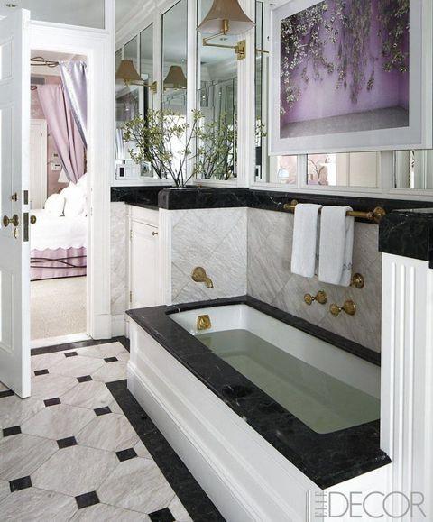 Remarkable 35 Black White Bathroom Design And Tile Ideas Interior Design Ideas Skatsoteloinfo