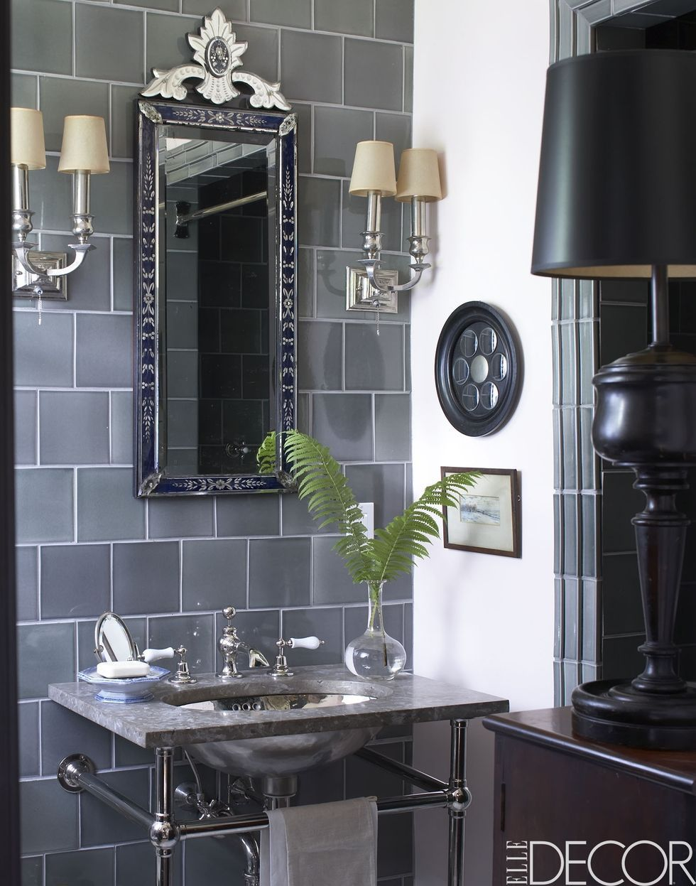 10+ Black & White Bathroom Design and Tile Ideas