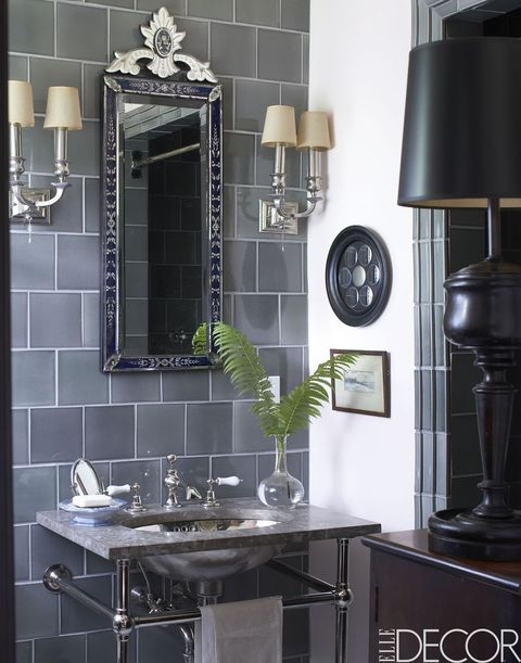 Black And Silver Bathroom.35 Black White Bathroom Design And Tile Ideas